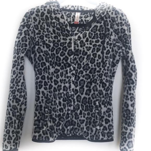 No Boundaries Jackets & Blazers - Leopard print hoodie jacket